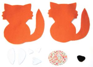 Etape 4 : pièces de tissu découpées