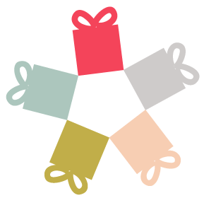 Cadeaux de 6 couleurs différentes